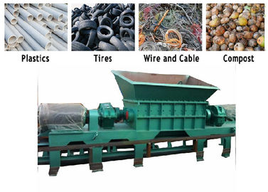 PC Auto Control Waste Pvc Shredder Machine / PVC Crusher Machine Twin Shaft